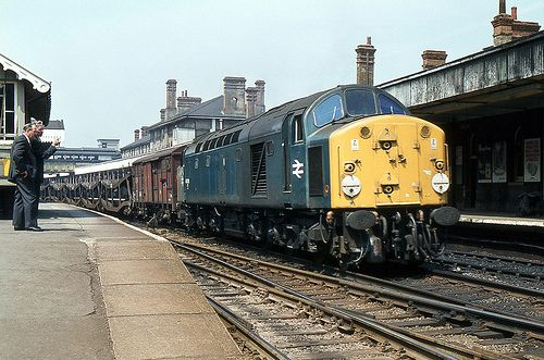 BR Class 40 40038, Ipswich, 5th. June 1980