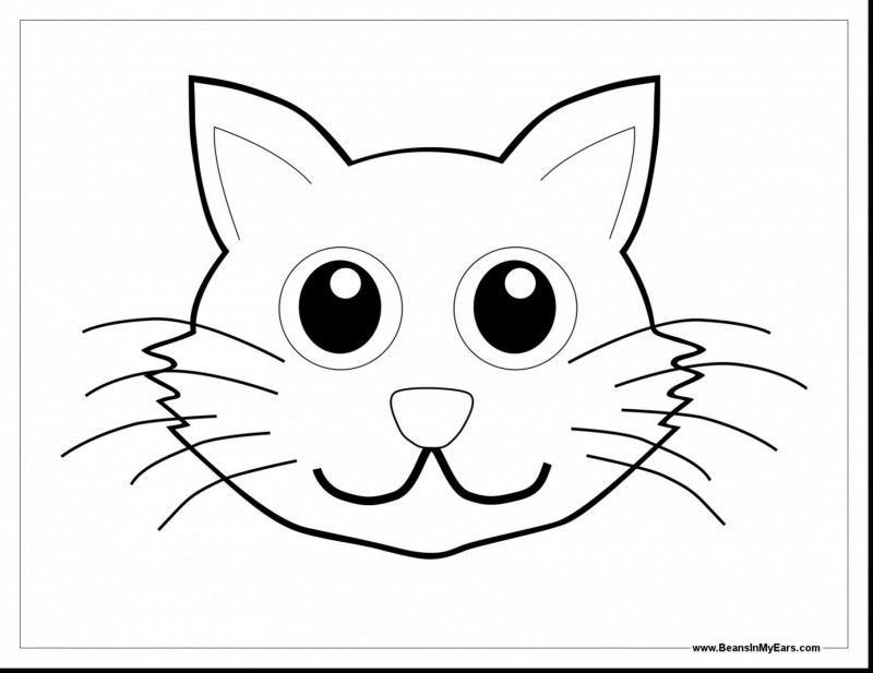 47++ Cat in the hat face coloring page free download
