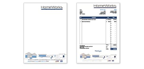 Letterhead + Invoice Design | Homeworks Builders  Invoice Letterhead