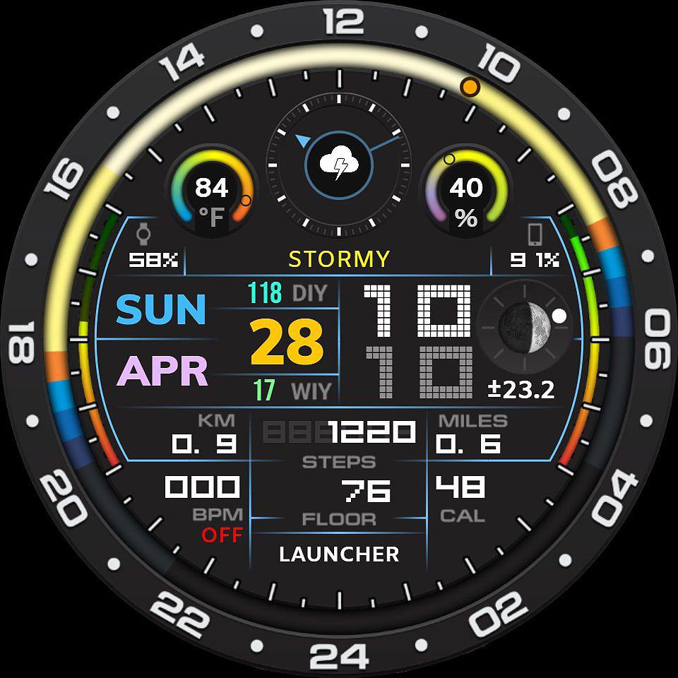 G7 digital daylight series 6 digital watch face custom