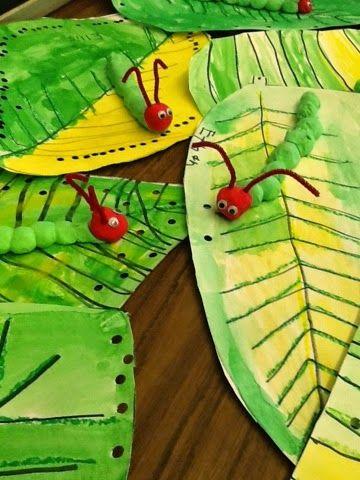 Mrs. Moss' ART Blog - Hudsonville Public Schools: Very Hungry Kindergartners....I mean Caterpillars :)