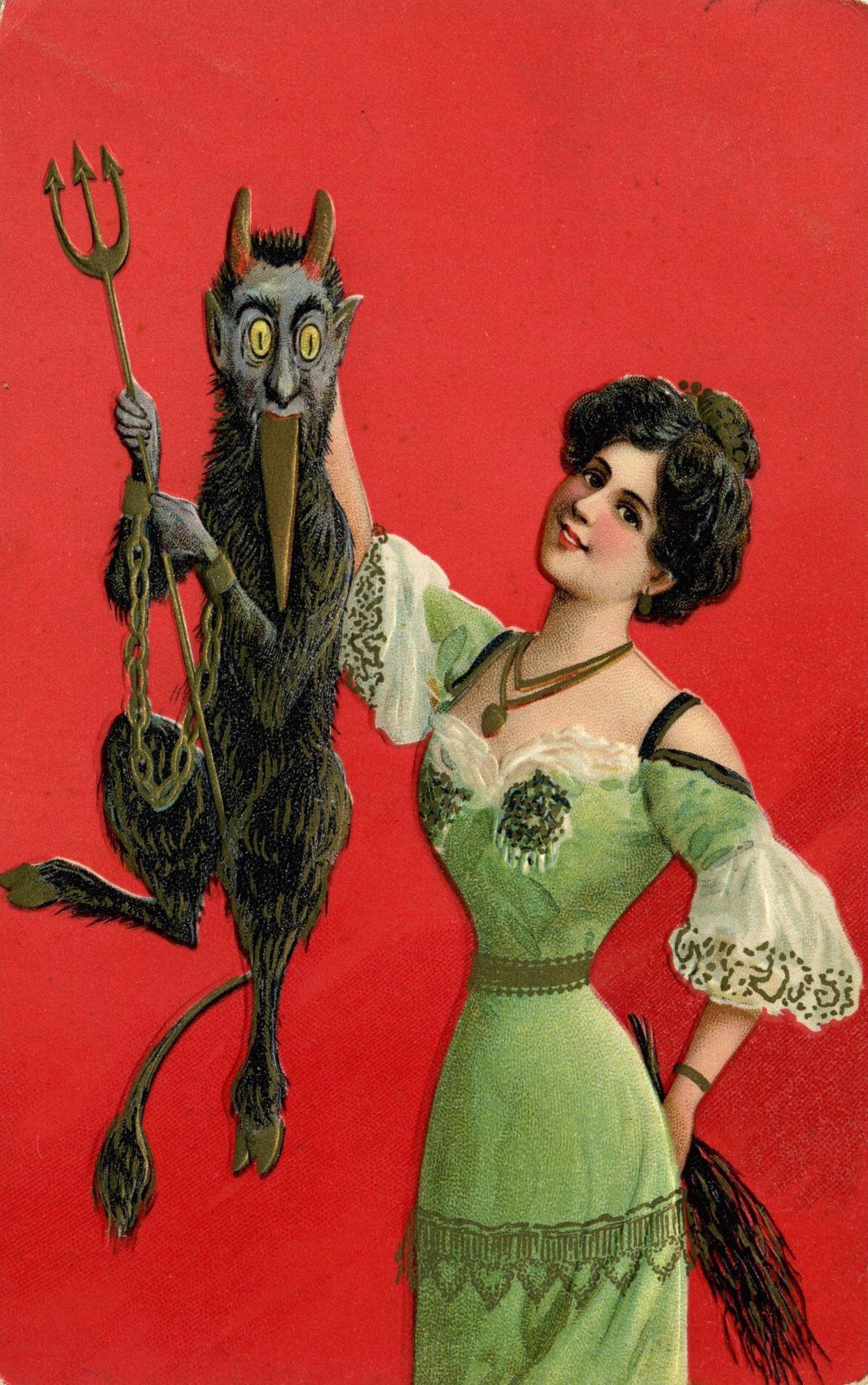 Vintage Krampus Postcards Scary Christmas Krampus Creepy Christmas