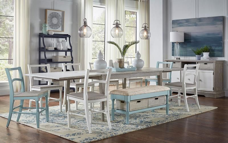 Trade Winds Furniture Easton Reunion Table With Leafs Closed
