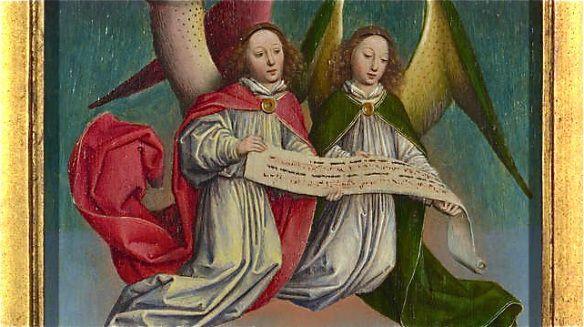 A Choir of Angels (detail), Simon Marmion, 1459