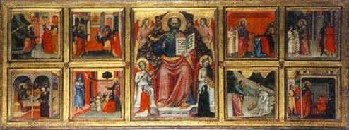 Giovanni di Bartolomeo Cristiani - San Giovanni Evangelista e otto storie della sua vita - 1353 -1355 - chiesa di San Giovanni  Fuorcivitas, Pistoia