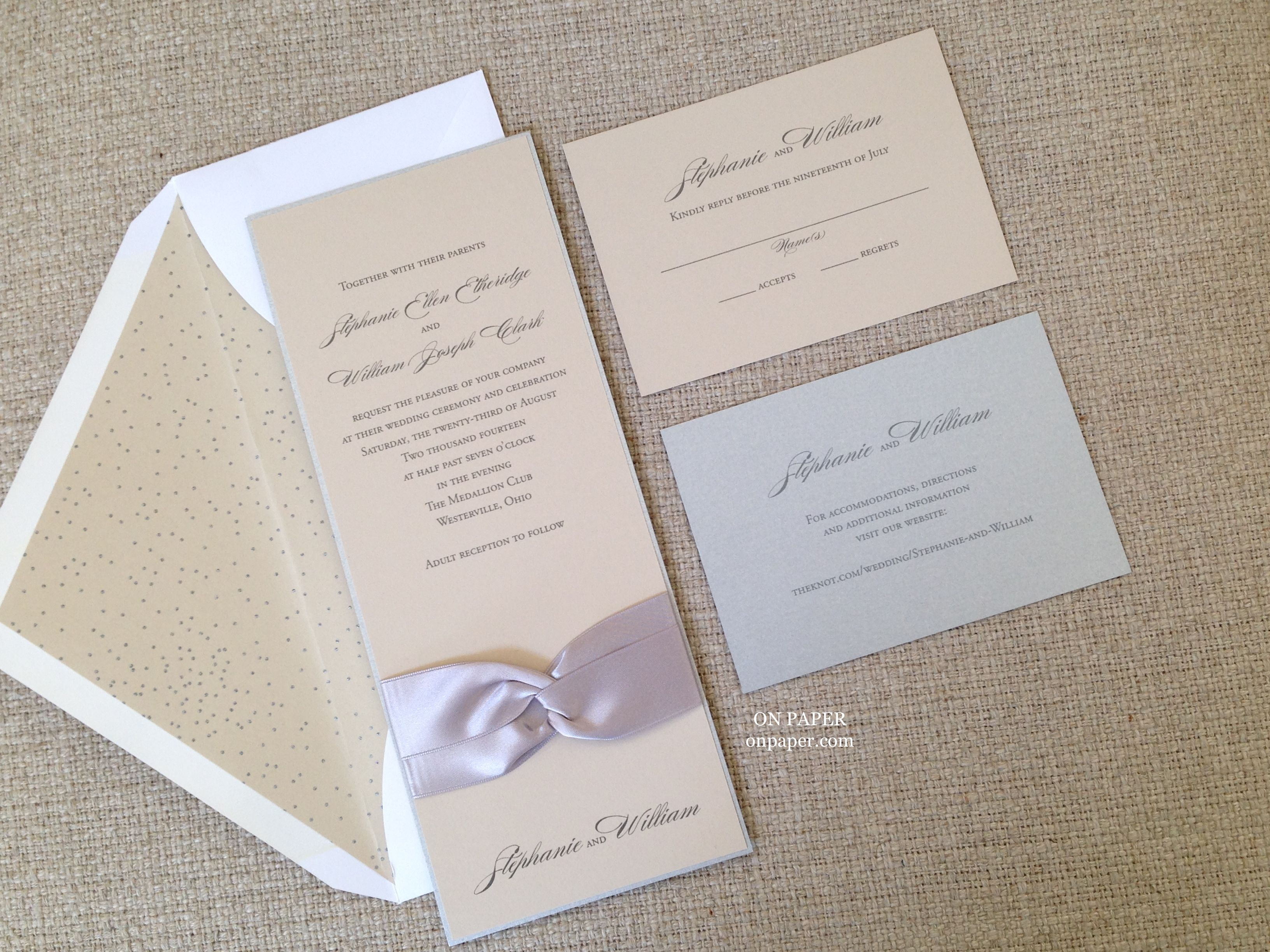 Simple elegance in this unexpected color combination of taupe and ...