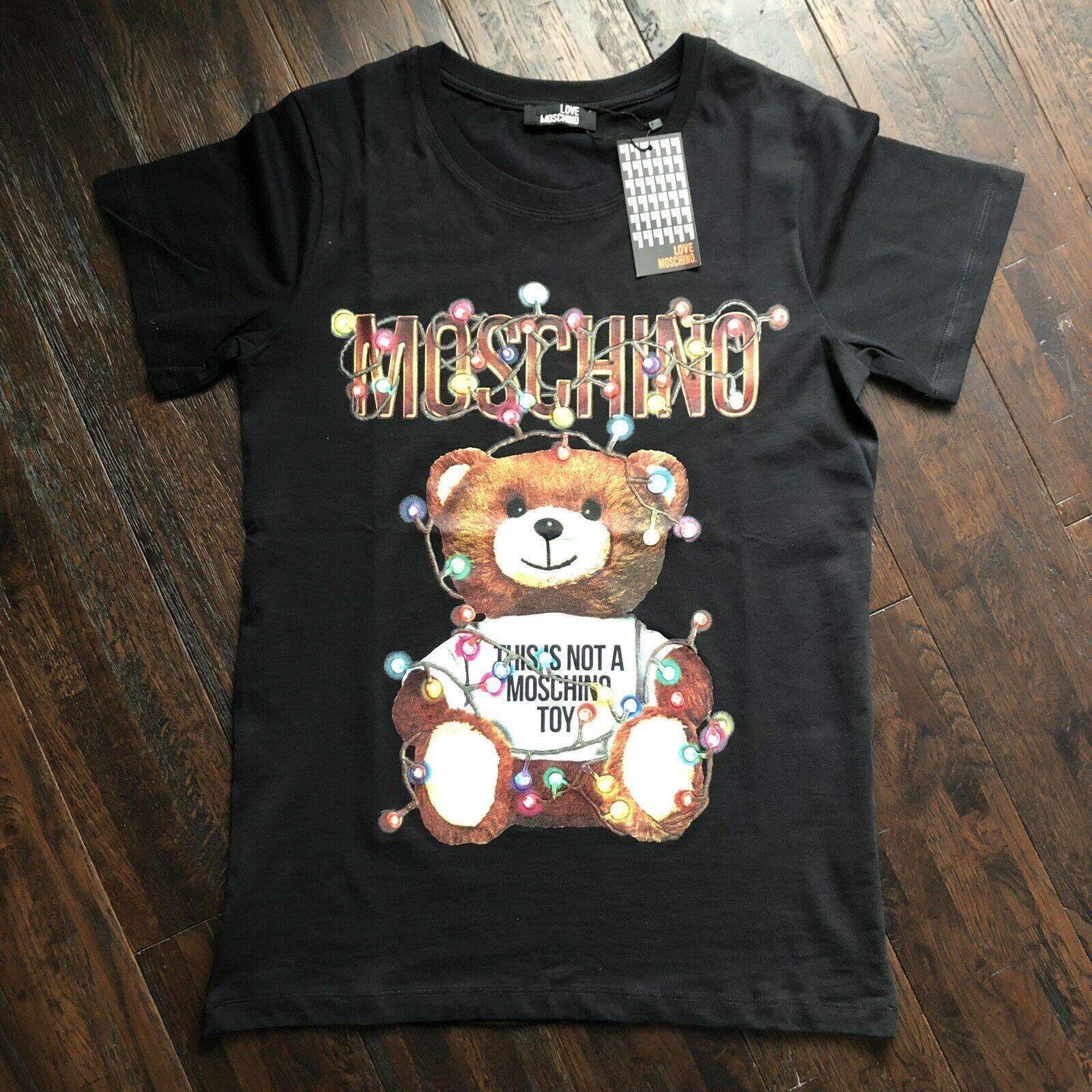 Authentic Love Moschino Women White T Shirt Size L Moschino Moschino Authentic Love Moschino Women White T Shirt Moschino T Shirt T Shirts For Women