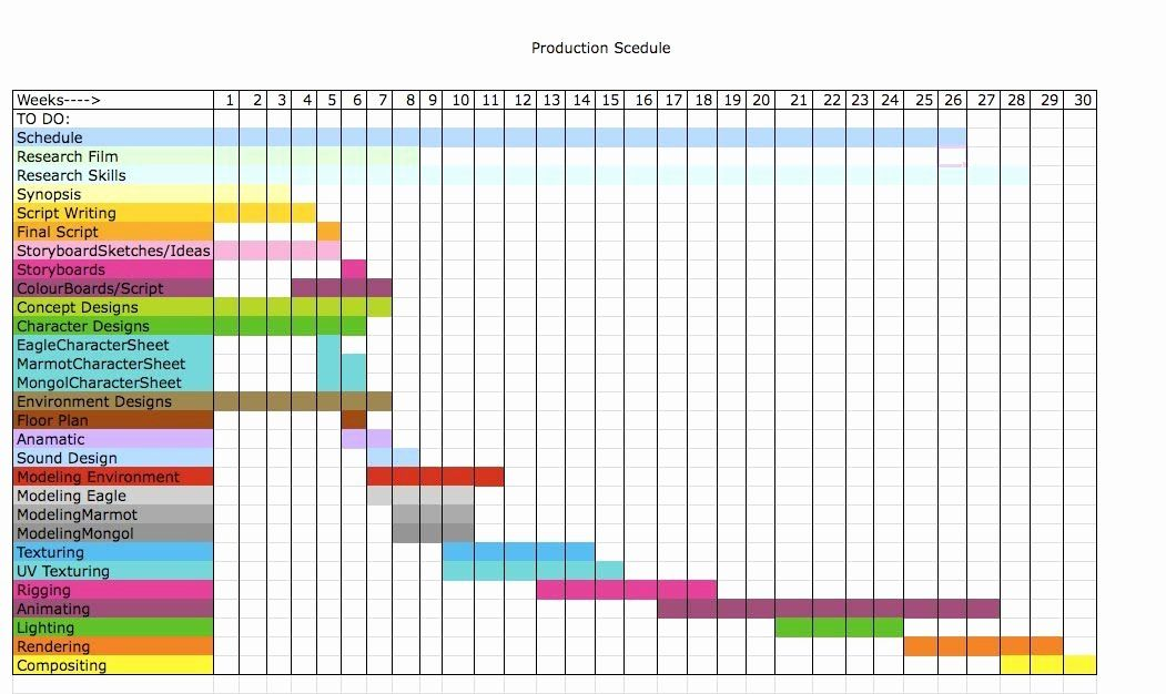 Daily Schedule Excel Template Luxury Production Schedule ...