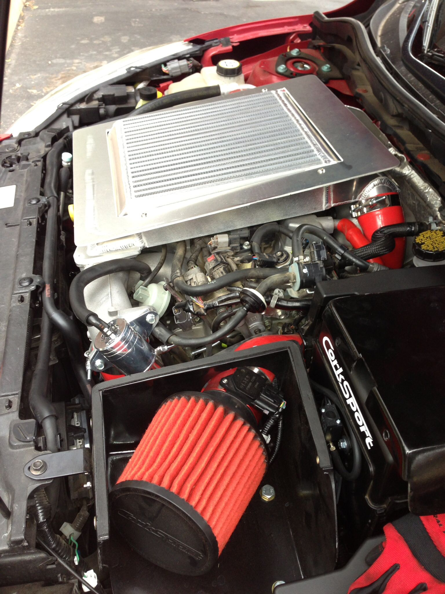 Mazdaspeed 3 Engine bay with Mods My Car  Cars  Pinterest