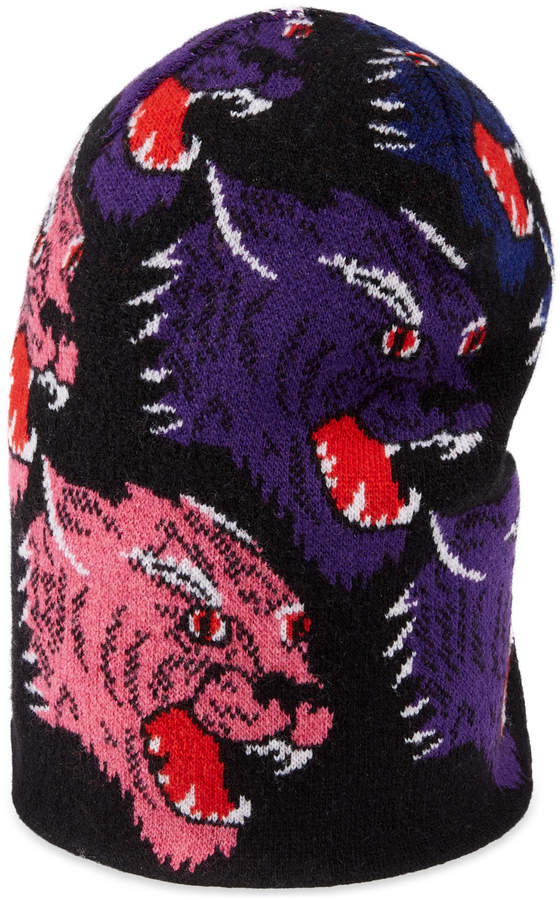 9a9b7380edd Gucci Wool panther face hat