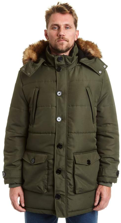 e23071d2e921f Big   Tall Excelled Faux-Fur Hooded Parka