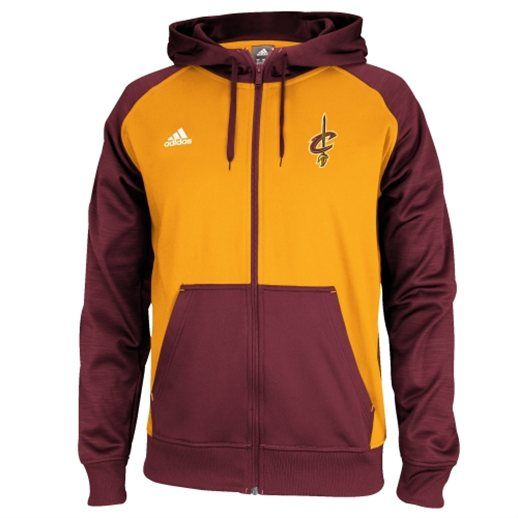 c2e0f9df adidas Cleveland Cavaliers 2014 Pre-Game Full Zip Hooded Jacket ...