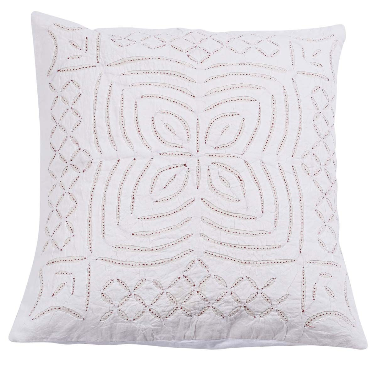 Bulk Wholesale 16x16 Pure Cotton Cushion Cover Hand Stitched White Throw Pillow Cover With With White Cushion Covers White Throw Pillow Covers Throw Pillows