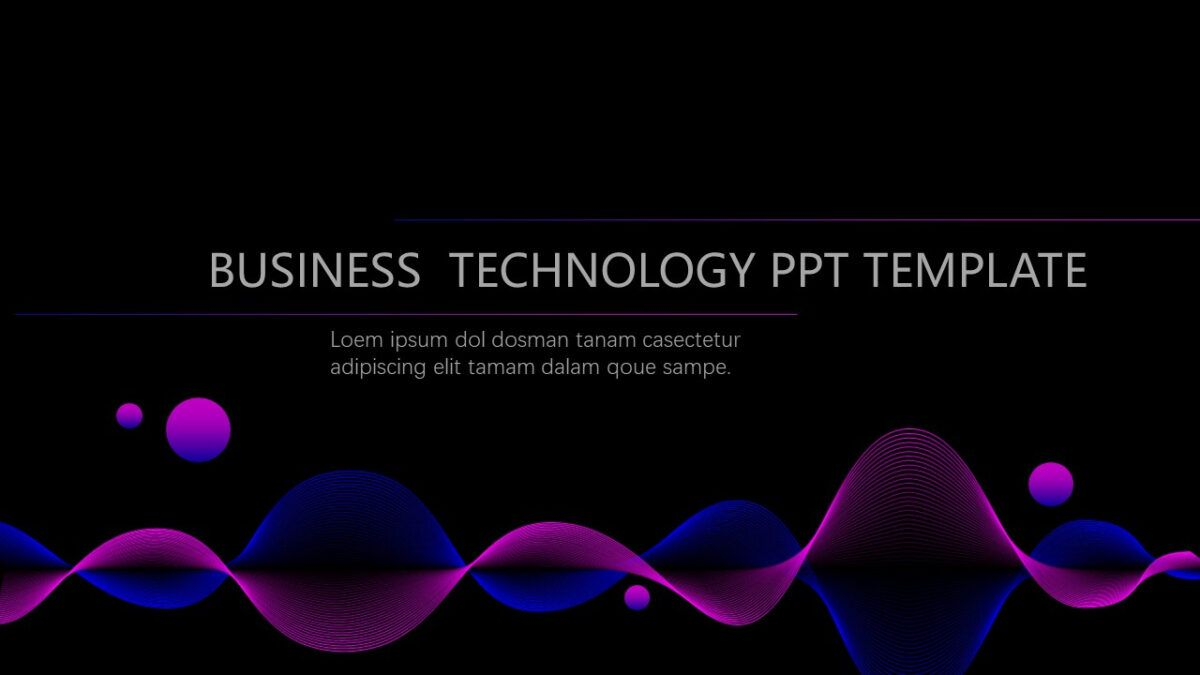 Gradient Style E Commerce Powerpoint Templates Best With Regard To High Tech Powerpoint Template Powerpoint Templates Powerpoint Business Template