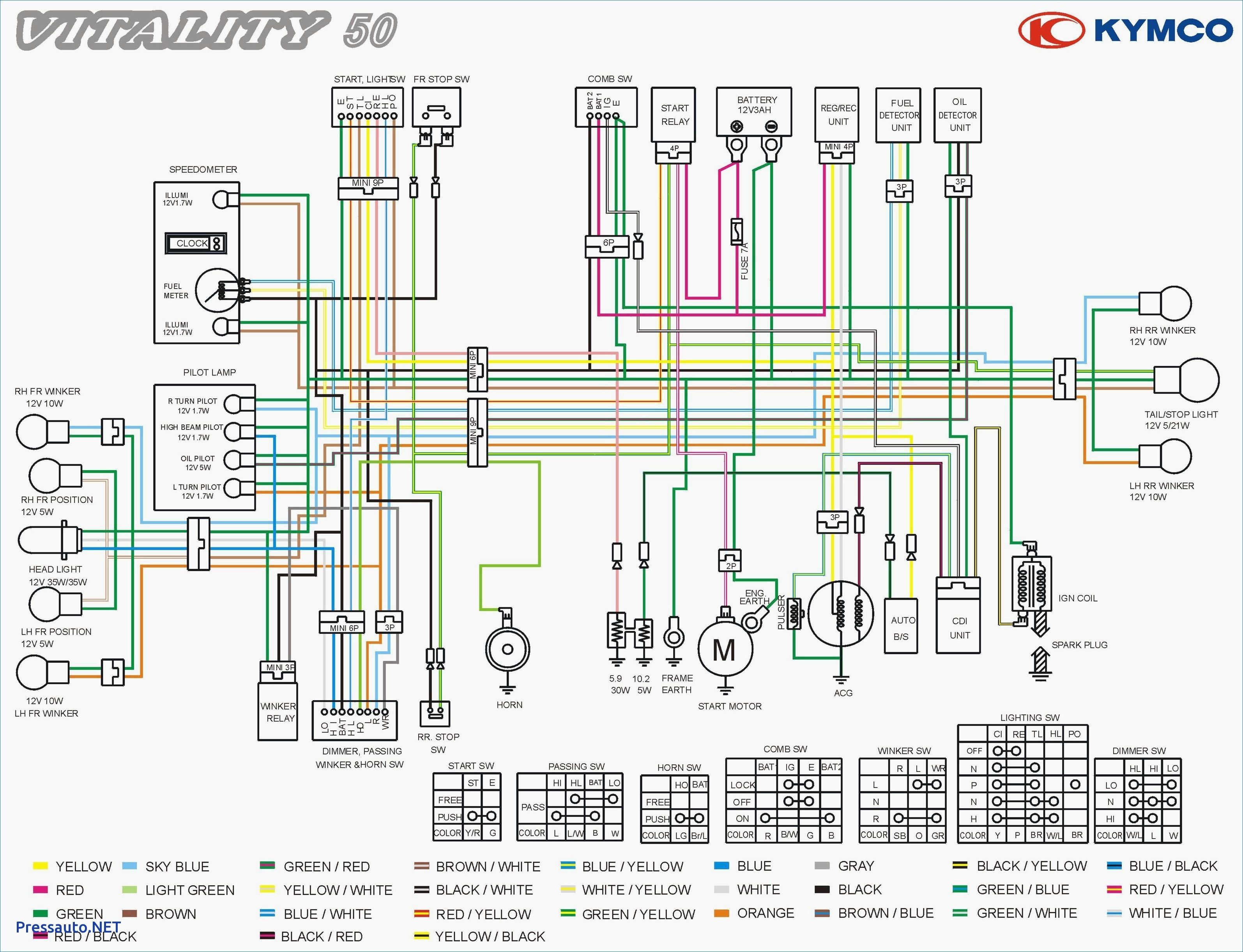 Wiring Diagram For Kymco Agility 50 Download Free And
