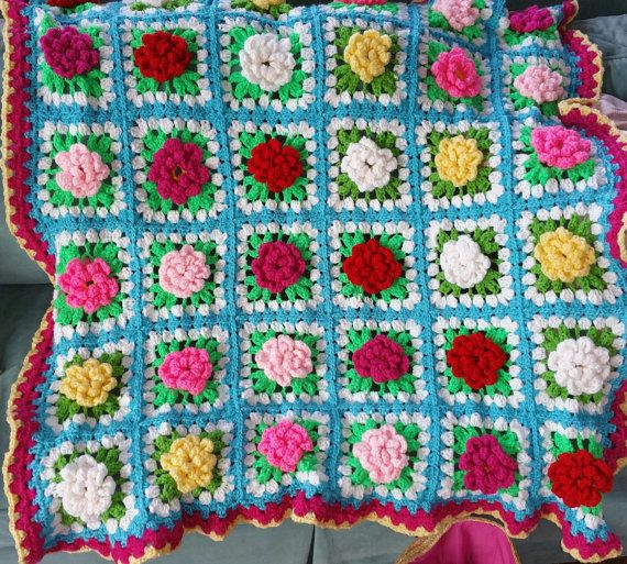 Hey, I found this really awesome Etsy listing at https://www.etsy.com/listing/267095819/custom-3-d-flower-blanket