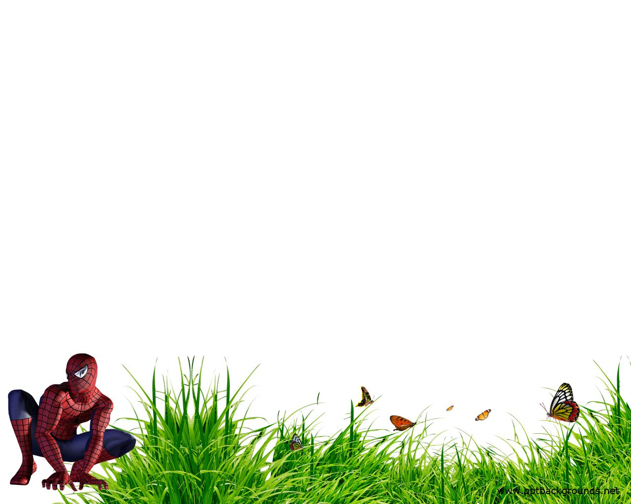 Superhero Borders Template  Spiderman Backgrounds For Powerpoint