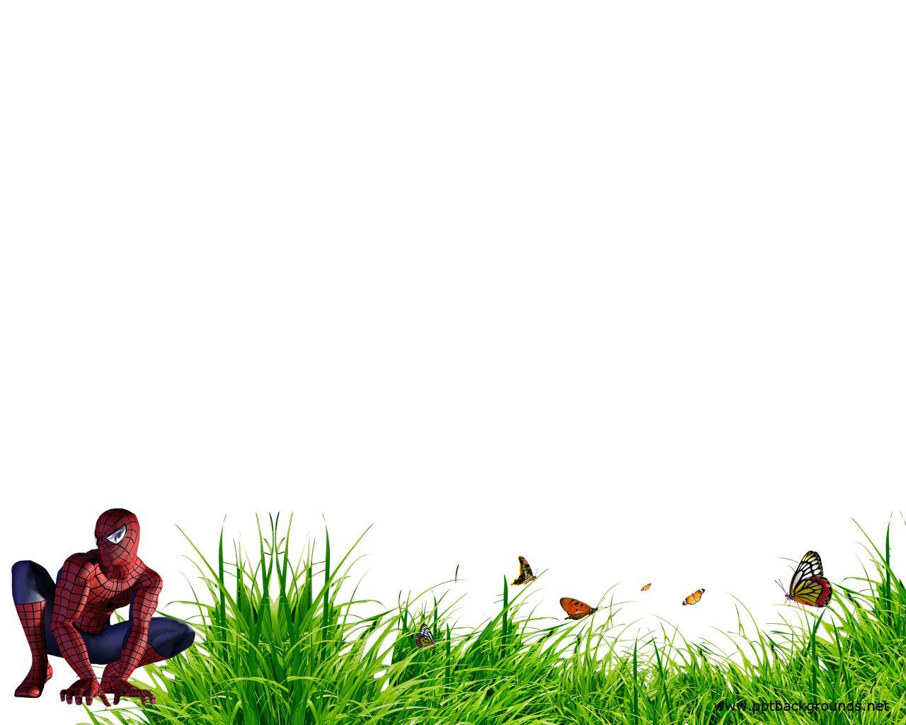 superhero borders template Spiderman Backgrounds for
