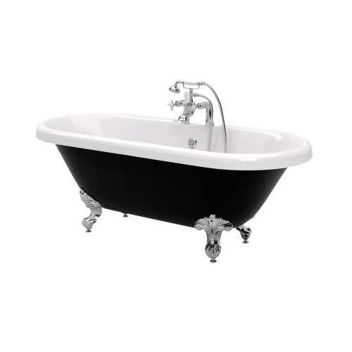 Aquabro Richmond Freestanding Bath with Feet | Black bath ...
