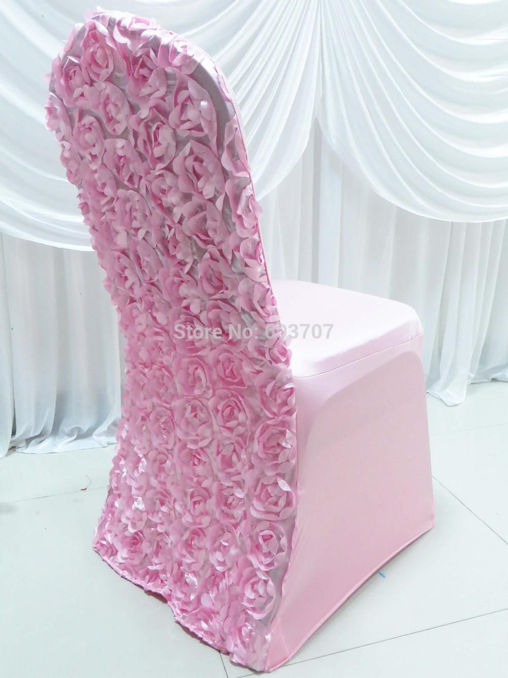 Wholesale Spandex Stretch Lycra Chair Cover With 3d Satin