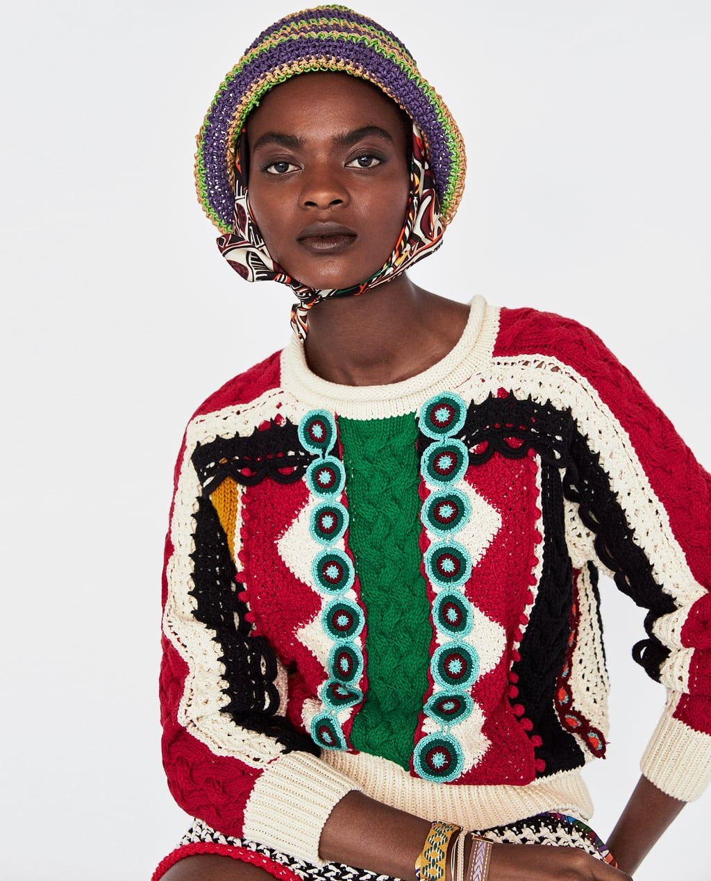 be9a4fe4 Limited edition zara studio two-tone sweater with fringing ...