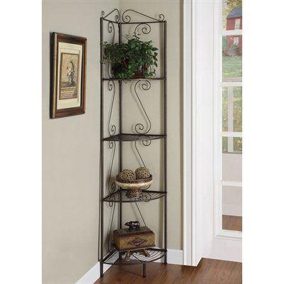 Monarch Specialties Decorative Shelf I 210 Metal Corner Etagere ...
