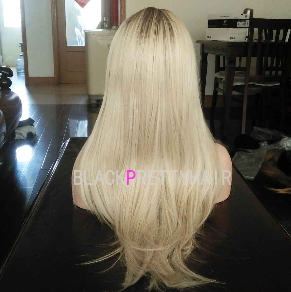 Ombre blond lace front wig fashion women wigs wholesale