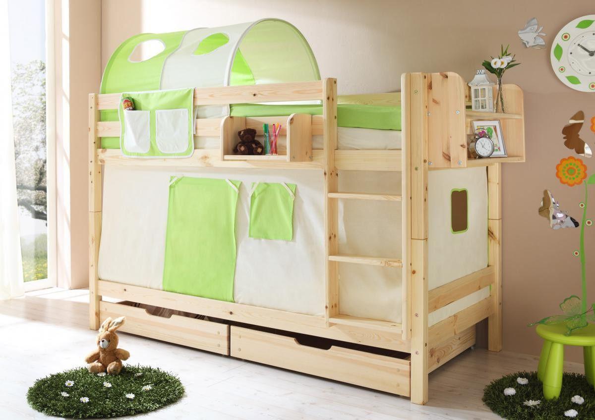 Etagenbett Ticaa Marcel : Ticaa etagenbett marcel kiefer natur beige grün jetzt bestellen