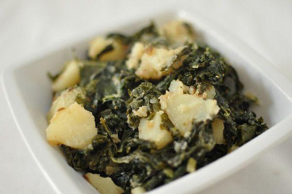 Indian-style kale and potatoes. Amazing.