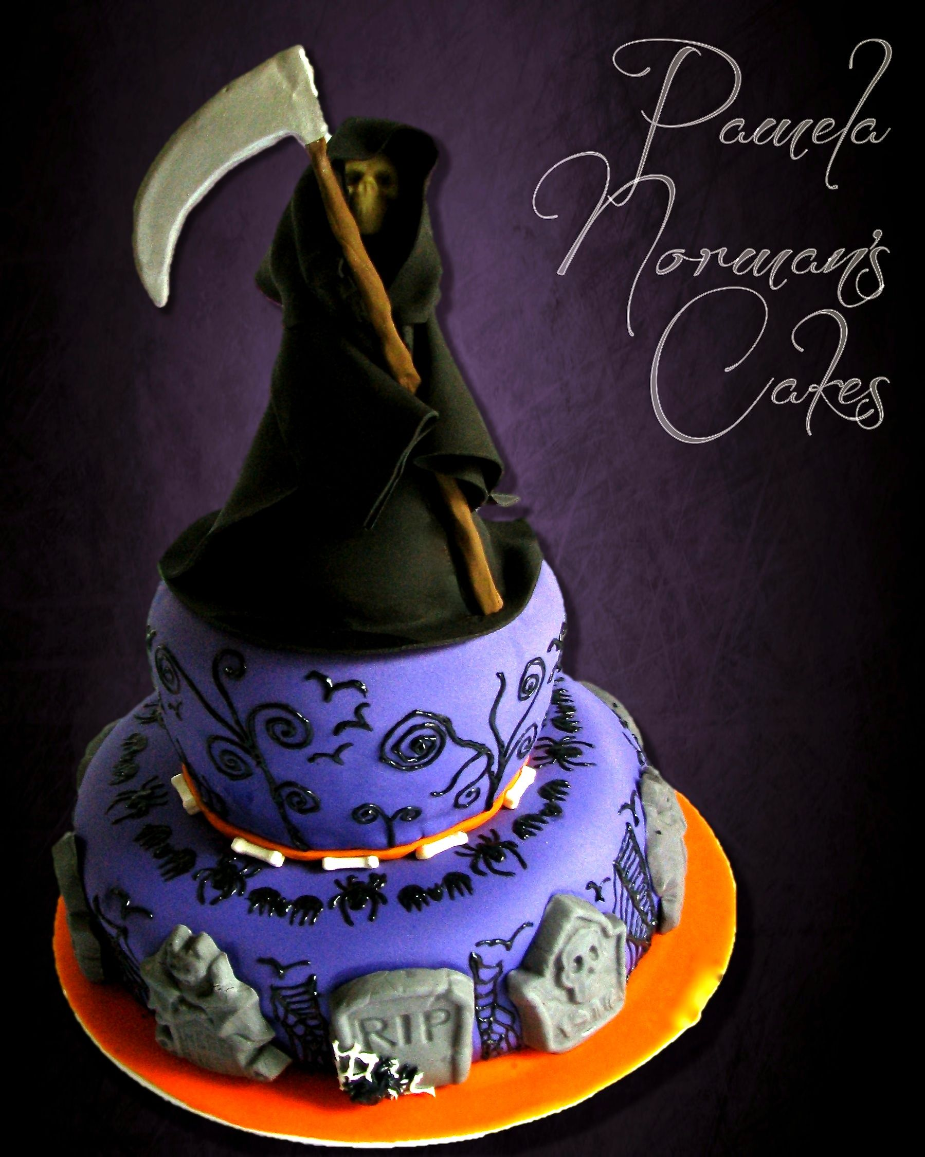 Grim Reaper Cake With Images Specialty Cake Cute Cakes