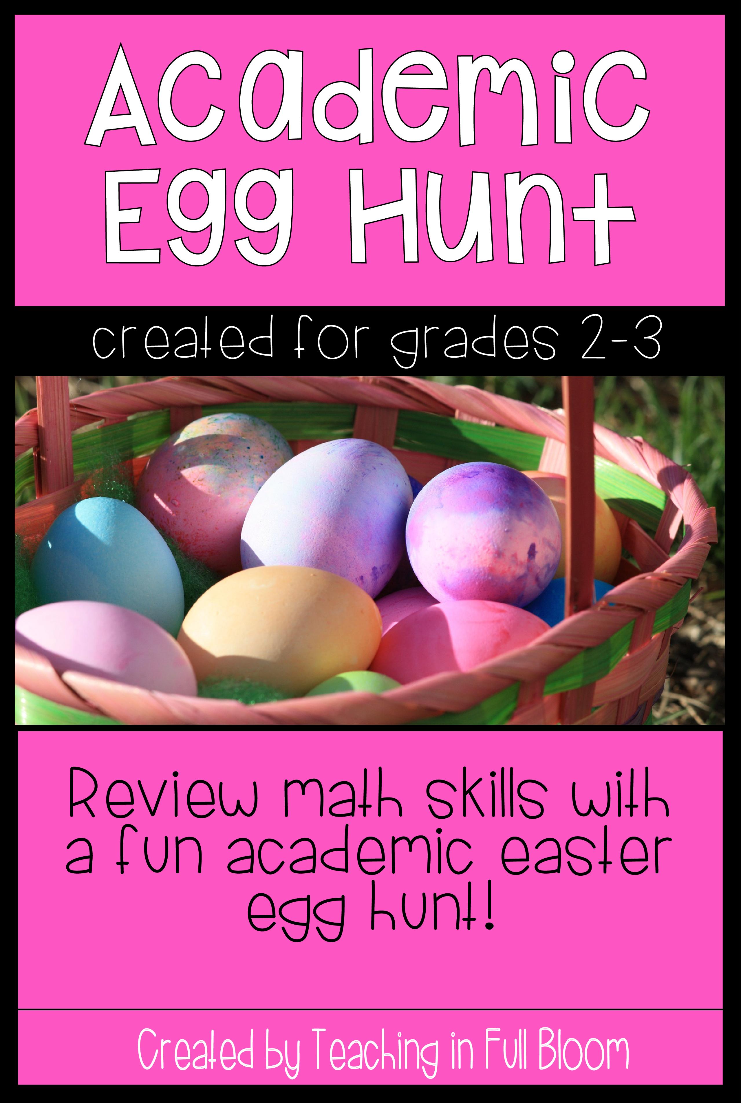 Academic Easter Egg Hunt 2nd Amp 3rd Grade