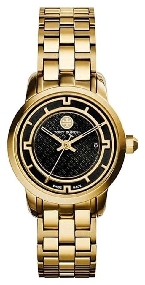 Tory Burch Women's Gold Tone Stainless Steel Strap Watch