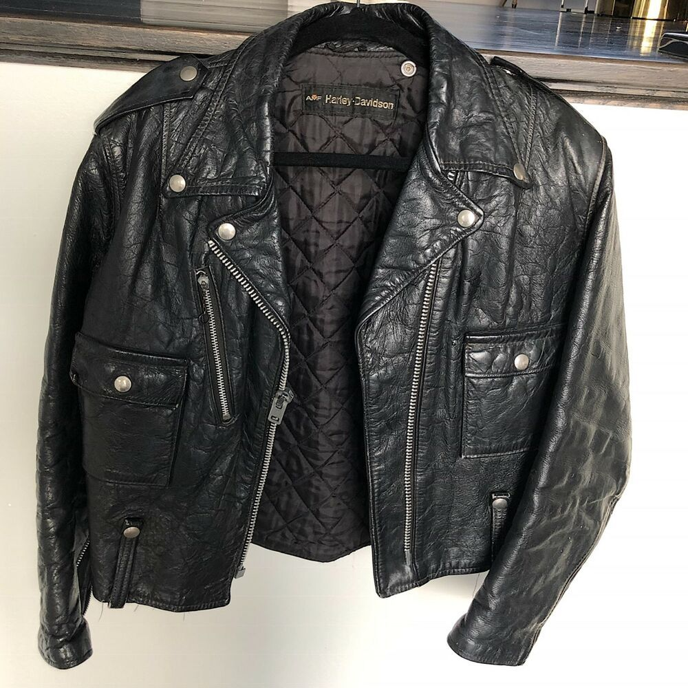 Amf Vintage Harley Davidson Womens Leather Jacket Fashion Clothing Shoes Accessories Mensclothing Coatsjack Jackets Leather Jacket Leather Jackets Women [ 1000 x 1000 Pixel ]