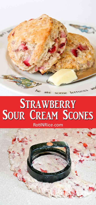 Strawberry Sour Cream Scones Recipe In 2020 Sour Cream Recipes Sour Cream Scones Sour Cream Muffins