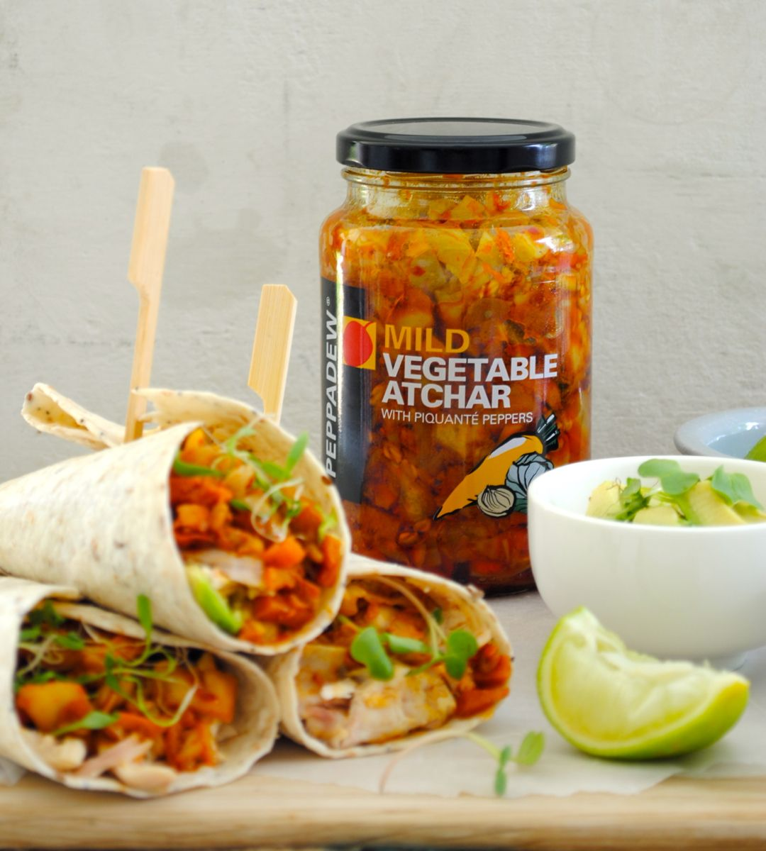 13 African Recipes: Roast Chicken Wraps With Avocado And Atchar