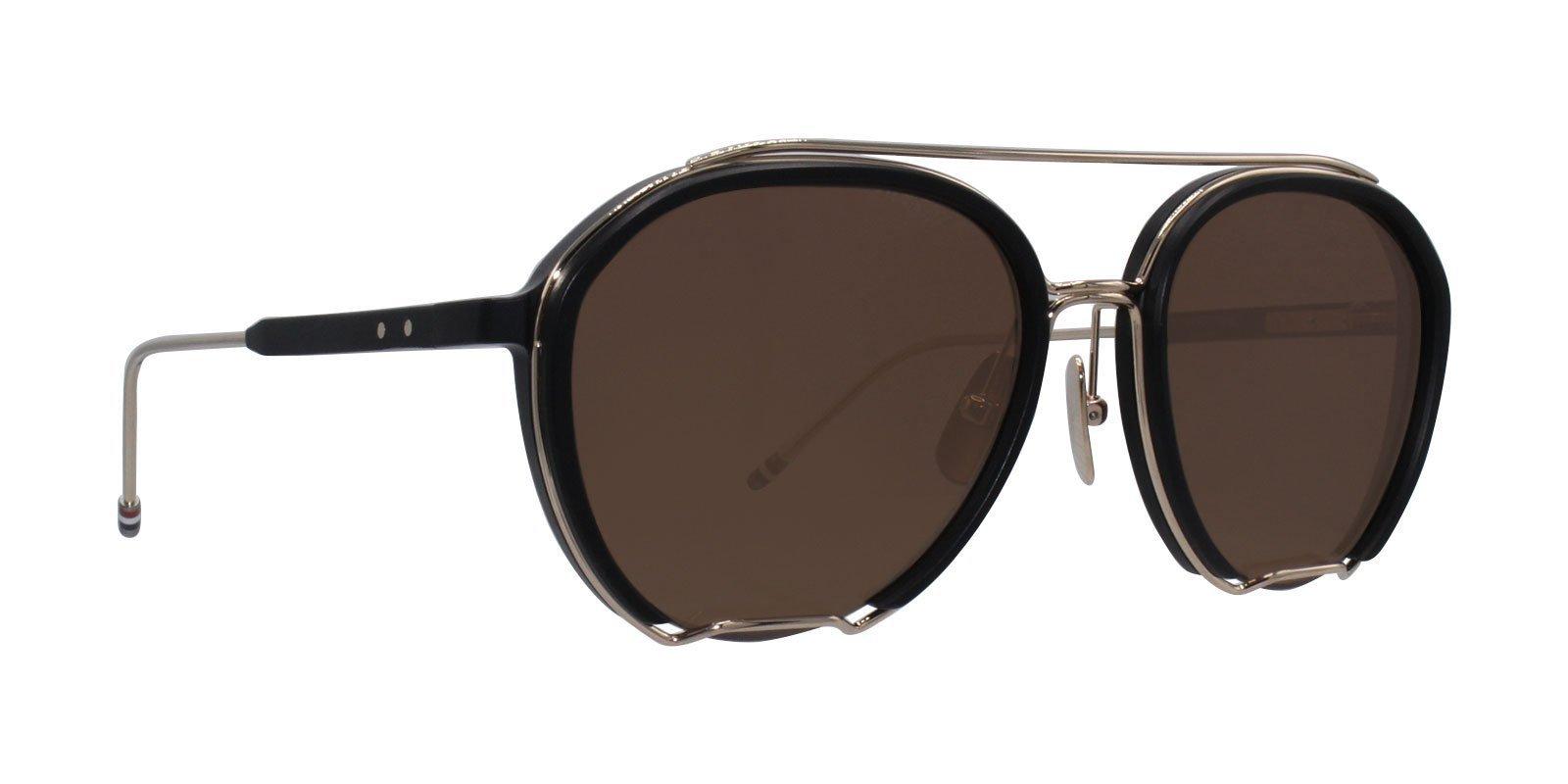 6fa0f3ea8ad Thom Browne - TB-810 Black Gold - Brown-sunglasses-Designer Eyes ...