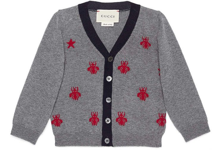 a8c7b7f6f391c Gucci Baby wool bees and stars cardigan.  ad