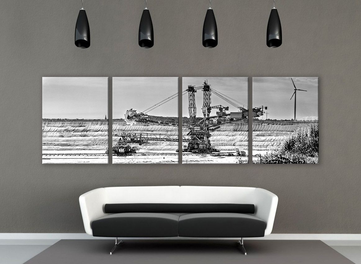 Extra large agricultural canvas print panels print art wall deco
