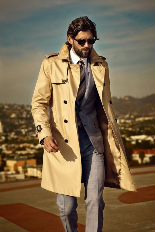 buy online 6393d 5753e Streetstyle | Mens Fashions | Trench coat outfit, Fashion ...