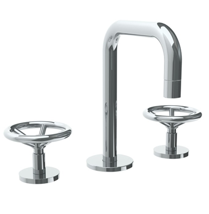 Brooklyn 31 Deck Mounted 3 Hole Extended Spout Lavatory Set Watermark Designs Lavatory Faucet Lavatory Bath Accessories Design