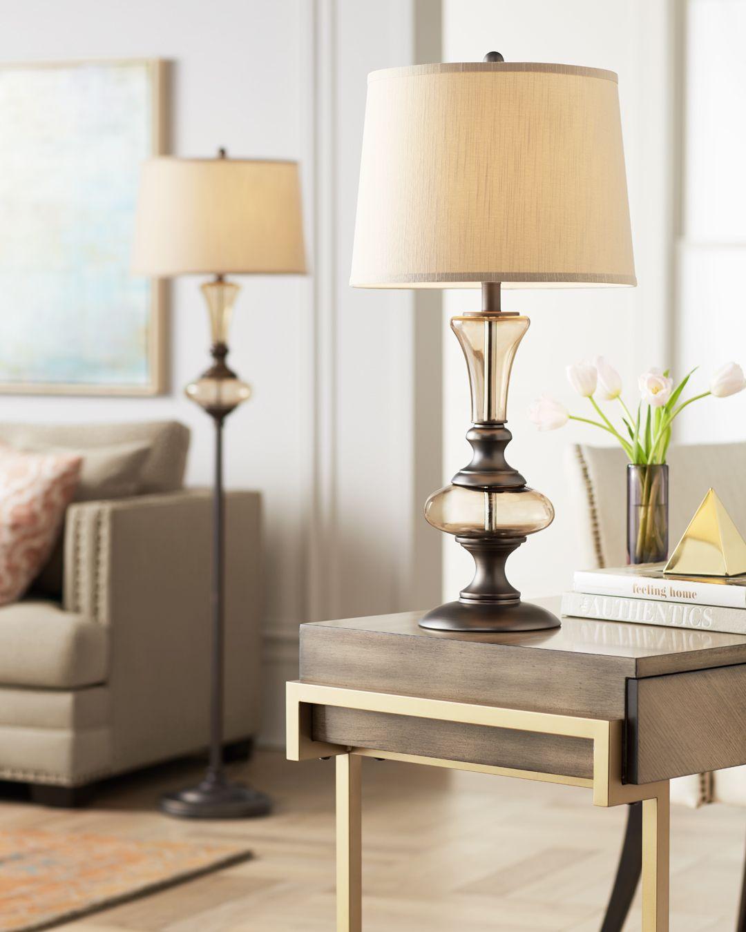 Olive Glow Matching Table Floor Lamp Floor Lamp Table Floor