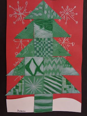 Sharpies Paint And Paper Oh My Trees Trees And More Trees Grade 4 Winter Art Lesson Christmas Art Projects Christmas Art