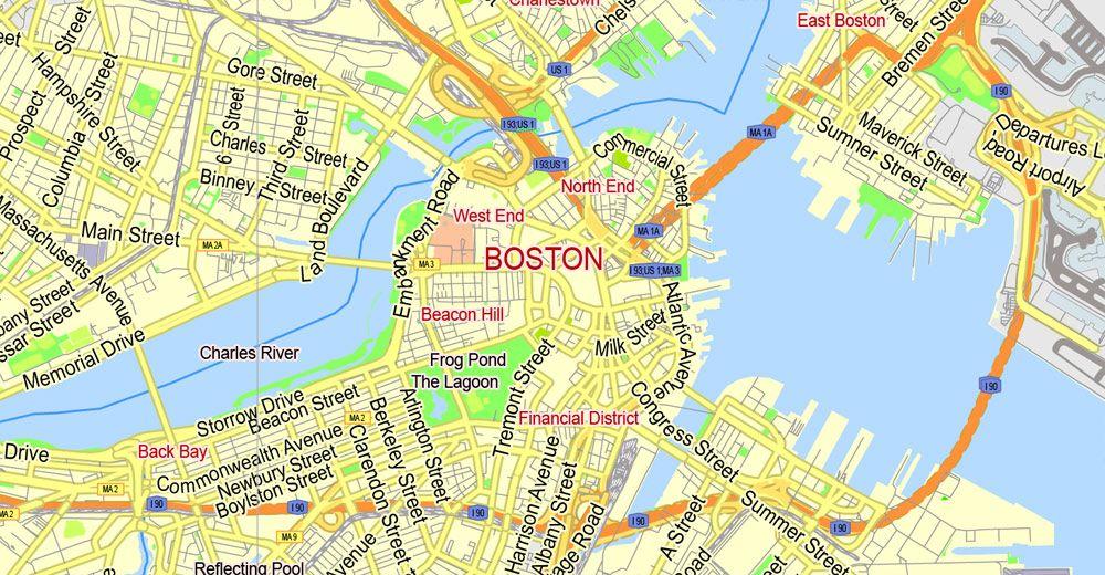 Boston Street Map boston street map – bnhspine.| Inspirational | Boston map