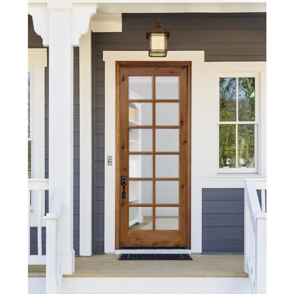 Krosswood Doors 32 In X 96 In Classic French Alder 12 Lite Clear Low E Glass Right Hand Unfinished Wood Exterior Prehung Front Door Phed Ka 412 28 80 134 Rh In 2020 Exterior Doors With Glass French Cottage Front