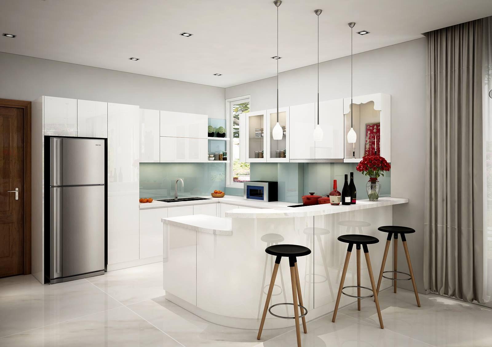Không gian bếp mang phong cách hiện đại, tinh tế. tại biệt