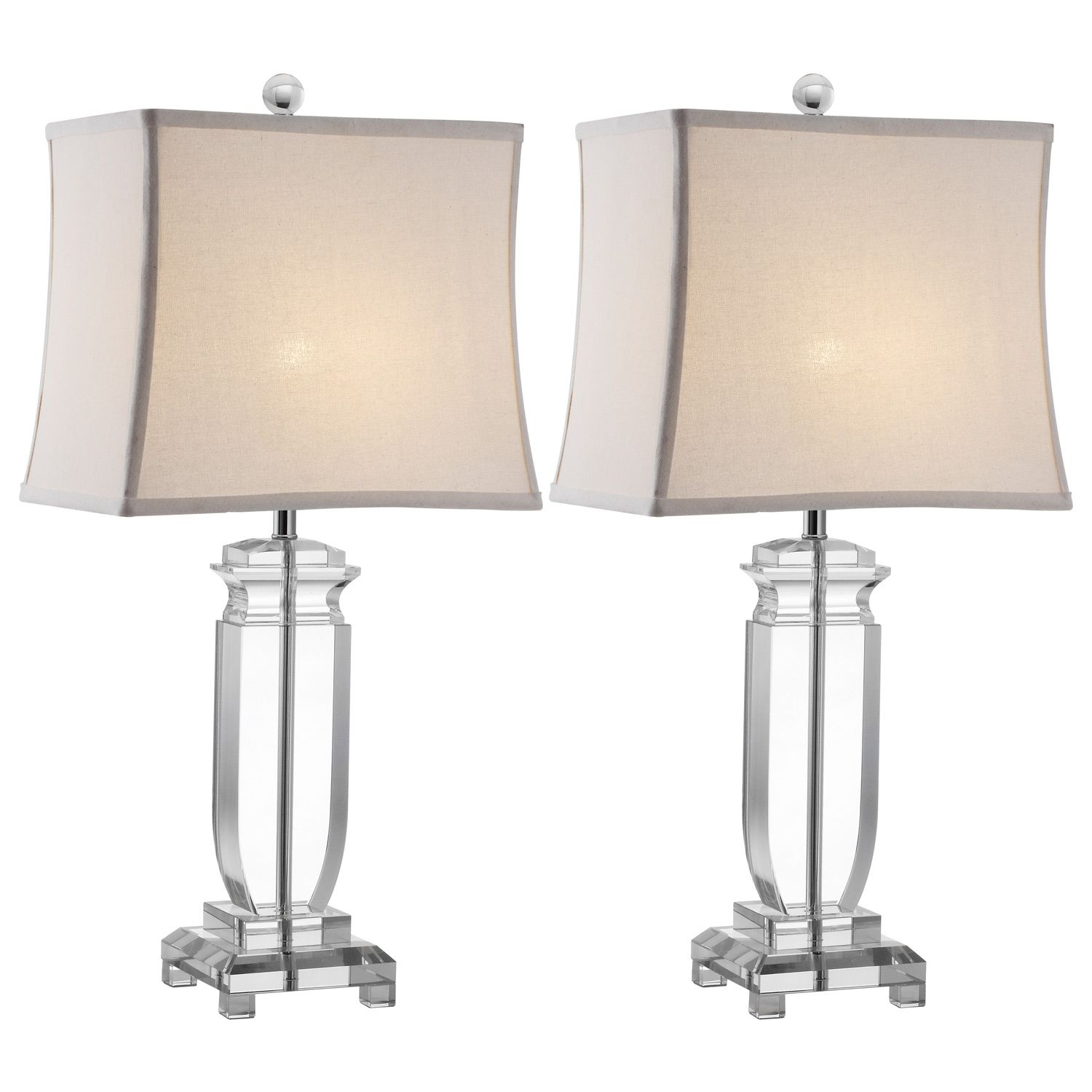 Olympia Clear Table Lamp Set of 2 @LaylaGrayce