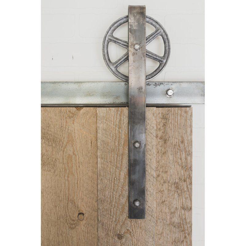 Spoked Sliding Standard Single Barn Door Hardware Kit Barn Door Hardware Barn Door Sliding Barn Door Hardware