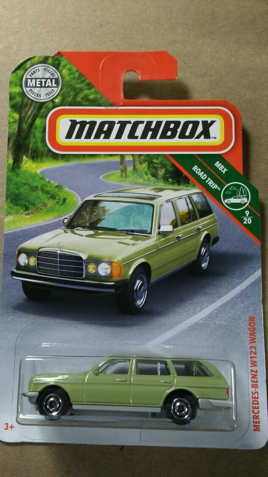 Matchbox mercedes benz w123 wagon mbx road trip 2019 p case