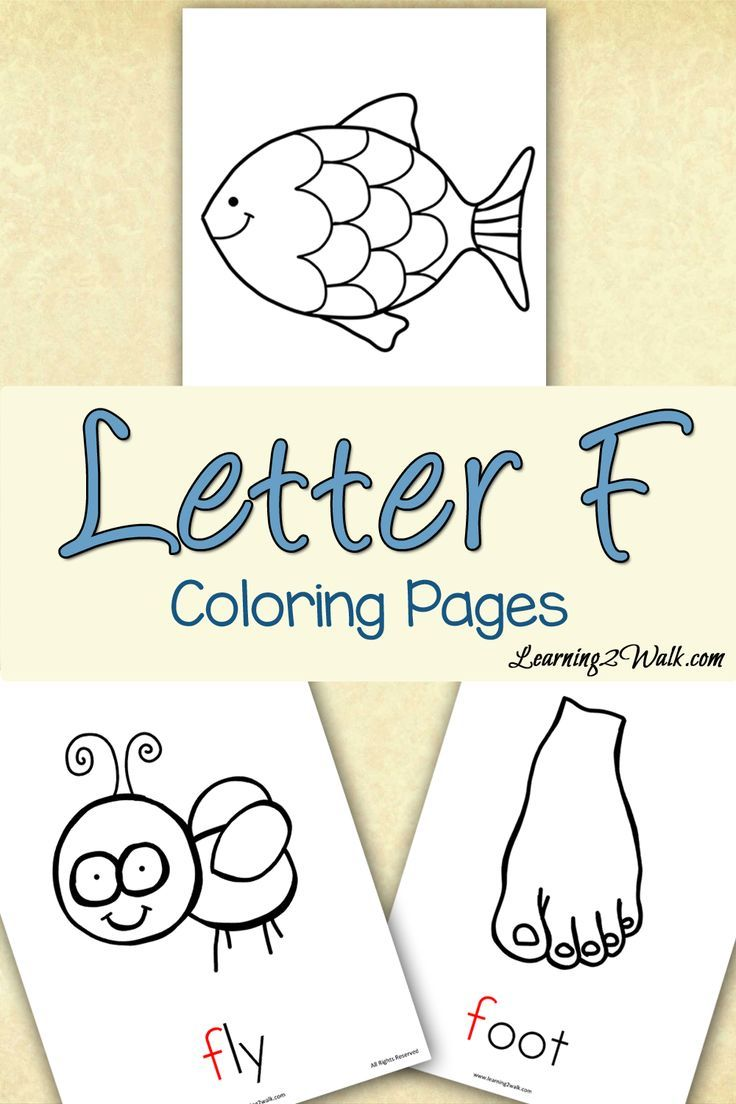 Preschool letter activities letter f coloring pages for Letter f coloring pages for preschoolers