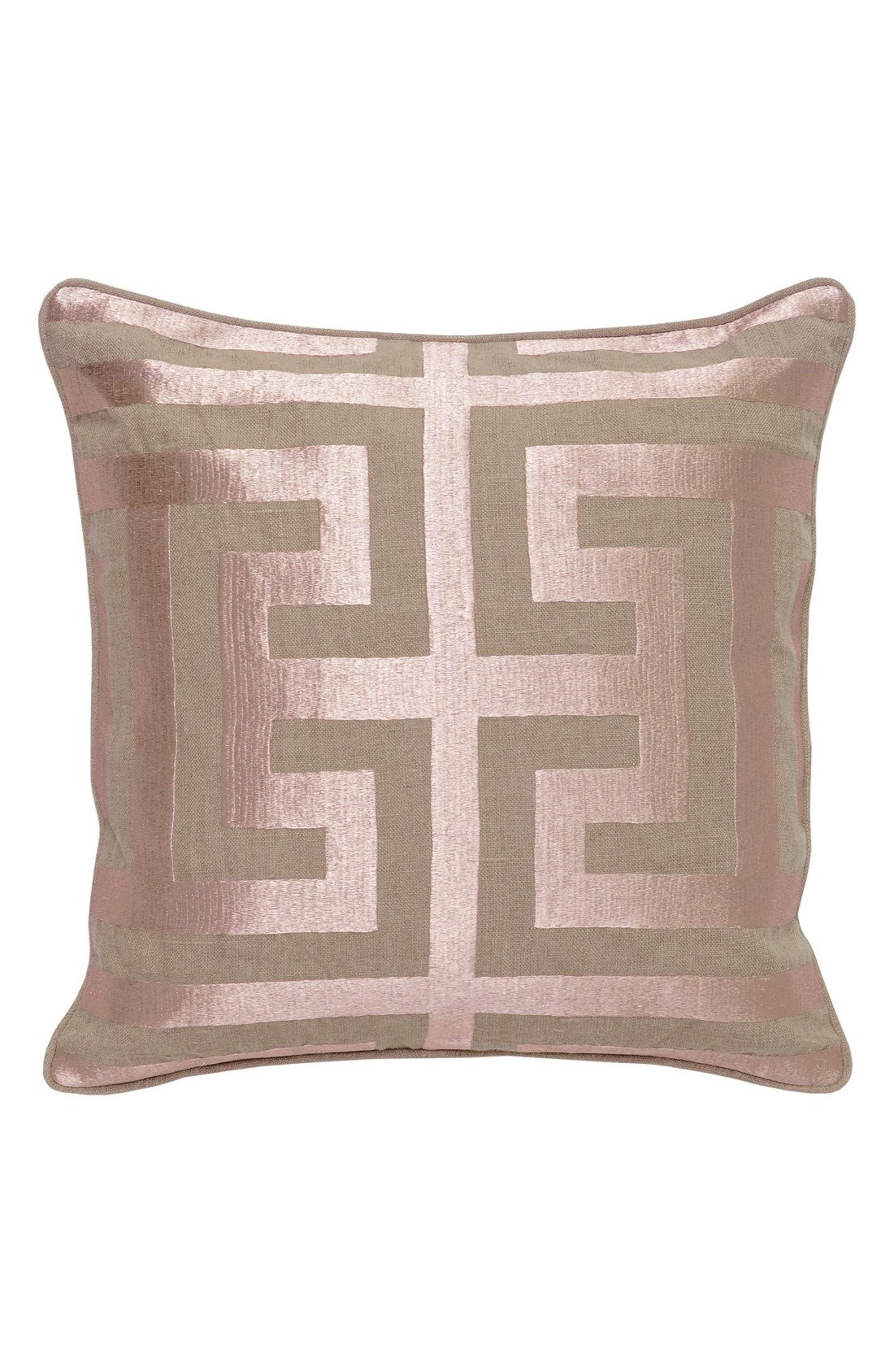 Villa home collection ucapitalu decorative pillow rose gold